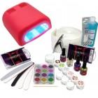 Zselé készlet - 3-fázisú rendszer, 36W piros UV lámpa