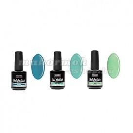 UV gél lakk szett, 3db - Green