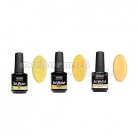 UV gél lakk szett, 3db - Yellow