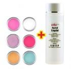 Mix Color készlet 6db + Acryl Liquid 100ml INGYEN