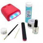 1-fázisú UV zselé rendszer - BASIC csomag, 36W piros UV lámpa