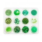 Körömdíszítő szett 12db – zöld
