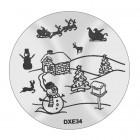 Pecsételő mintakorong DXE34 - Karácsony