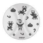 Pecsételő mintakorong DXE57 - Karácsony
