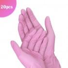 Rózsaszín egyhasználatos kesztyű - L/20db