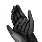 Fekete kesztyű - egyhasználatos S/10db