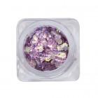 Körömdísz – hatszög - sötét lila