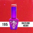 MOLLY LAC UV/LED gél lakk Hearts and Kisses - Dazzling Heart 195, 10ml/gél lakk készítés