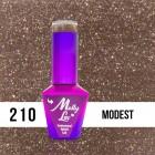 MOLLY LAC UV/LED gél lakk Obsession - Modest 210, 10ml/gél lakk készítés