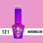 MOLLY LAC UV/LED Yoghurt - Marshmallow 121, 10ml/gél lakk készítés