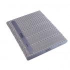 50db Körömreszelő - szürke egyenes, fekete középpel - mosható és fertőtleníthető 100/180