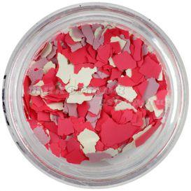 Szabálytalan alakzatok - bézs, korall, rózsaszín