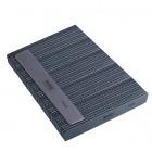 50db Körömreszelő - szürke téglalap, fekete középpel - mosható és fertőtleníthető 100/180