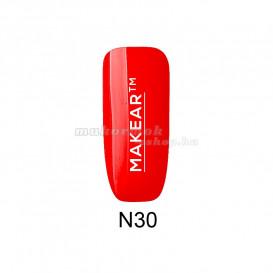Színes gél lakk - Neon rose red - N30, 8ml/gél lakk készítés