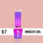 MOLLY LAC UV/LED gél lakk Delicate Woman - Innocent Girl 67, 10ml/gél lakk készítés