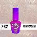 MOLLY LAC UV/LED gél lakk Wedding Dream and Champagne  - Anniversary 382, 10ml