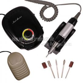 Elektromos körömcsiszoló szabályozható fordulatszámmal – fekete