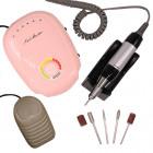 Elektromos körömcsiszoló szabályozható fordulatszámmal – rózsaszín
