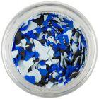 Szabálytalan alakzatok - világoskék, kék, fekete