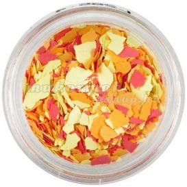 Szabálytalan alakzatok - sárga, narancssárga, piros