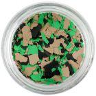 Szabálytalan alakzatok - barna, zöld, fekete