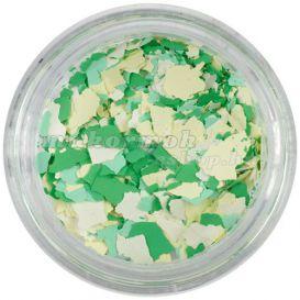 Szabálytalan alakzatok - fehér, sárga, zöld