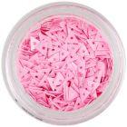 Lyukas, rózsaszín díszítő háromszögek - nail art