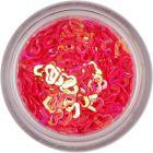Körömdíszek - korall színű szívecskék
