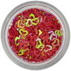 Körömdíszek - piros szívecskék