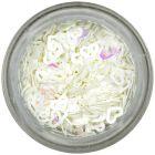 Díszítő konfettik - fehér szívecskék