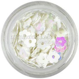 Lyukas virág - fehér