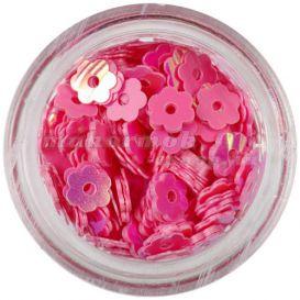 Dekoráció körmökre - rózsaszínes piros virág