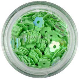 Lyukas virágok - zöld