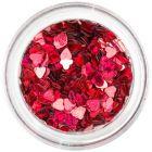 Dekorációs konfetti - sötétpiros szívecskék