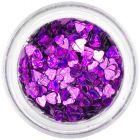 Dekorációs konfetti - sötétlila szívecskék