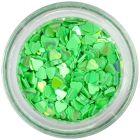 Körömdísz - zöld szívecskék