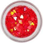 Díszítő konfettik - piros szivecskék