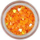 Flitteres szívecskék - narancssárga