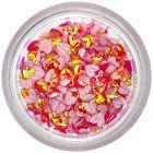 Dekorációs textil konfetti - piros szívecskék