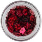 Nail art lyukas virág - piros