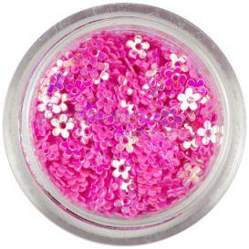 Rózsaszín dísz - lyukas virágok