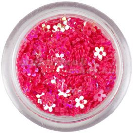 Lyukas virágok - korallszínű