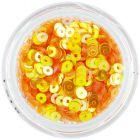 Sárgás-narancssárga CD flitter – lyukas karika