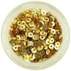 Lyukas karika – ezüst nail art flitter aranyszínű csíkokkal