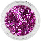 Lyukas karika – ezüst színű nail art flitter, rózsaszín csíkos