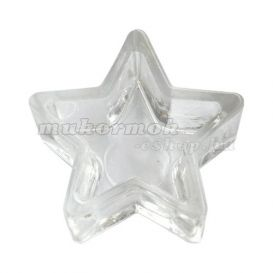 Üveg tálka púderra és liquidre 55x25mm - csillag