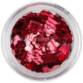 Díszítőelem körmökre - piros virág