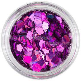 Dekorációs virág - lila, hologramm