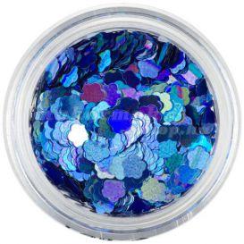 Flitter - virágok, kék