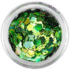 Díszítő virág - zöld, hologramm